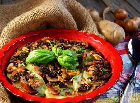 Tortino di funghi e patate
